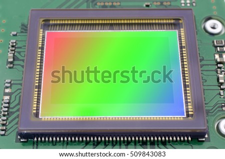 The image sensor of Dslr camera