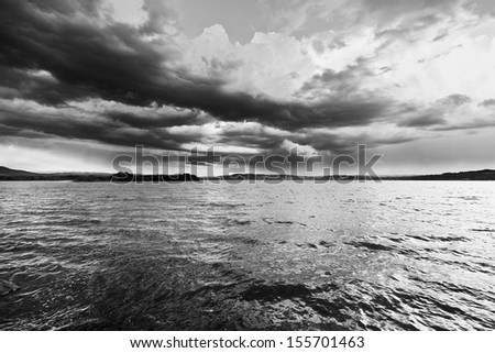 The lake, black and white 2