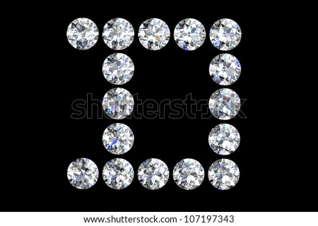 Letter J 3d Diamond Art Illustration Stock Illustration ...