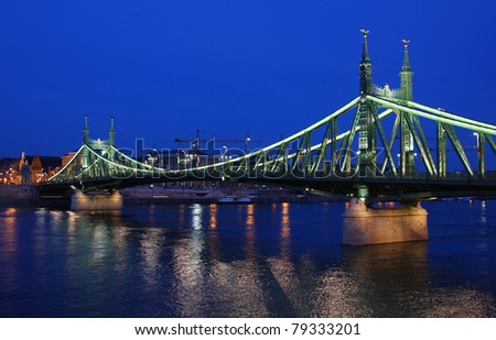 The Liberty Bridge in Budapest