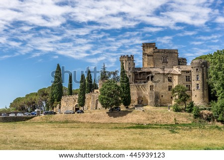 The Luberon village of Lourmarin in Provence
