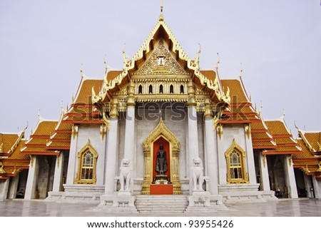 The marble temple is a Buddhist temple (wat) in the district of Bangkok, Thailand.