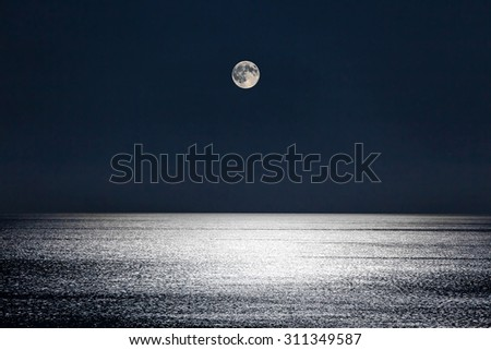 The Moonlight gives a sparkleto the calm waters of the Mediterranean Sea