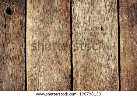 the old cracked wooden background