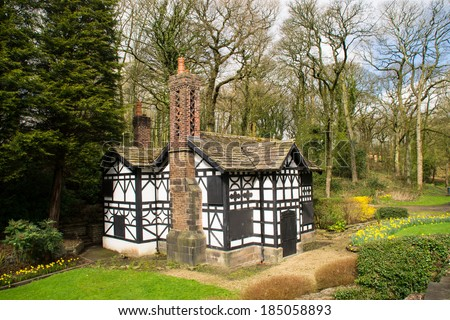 The old tudor house on Astley Hall grounds in Chorley, Lancashire, England.