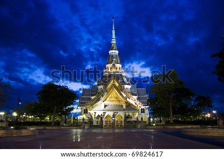 The ordination hall in Sothorn temple, Thailand