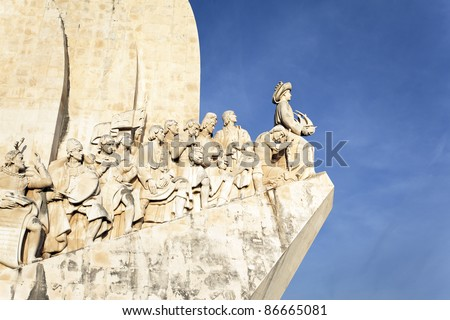 The Padrao dos Descobrimentos, monument in Lisbon
