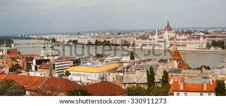 The panoramic view of Budapest.