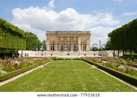 The Petit Trianon is a small chateau located on the grounds of the Palace of Versailles in Paris, France.The small castle builted by Gabriel for Louis XV.