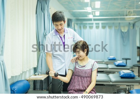 the physical therapist is the important job that work in rehabilitation team. he uses the analysis skill to diagnose symptom of patient.he use therapeutic exercise to treat.