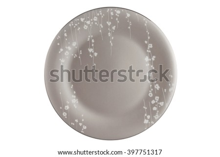 The plate isolated on white background.