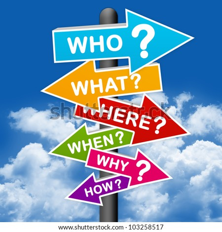 The Question Sign With Blue Sky background