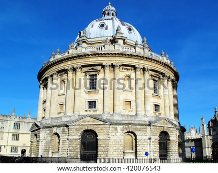 The Radcliffe Camera built between 1737-1749 are now additional reading rooms for the Bodleian Library, Oxford, Oxfordshire, England, UK