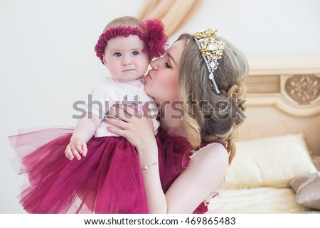 Nice Young Girl Pink On Light Stock Photo 8384167