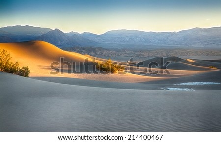 The sand dunes of Death Valley National Park, California, USA.