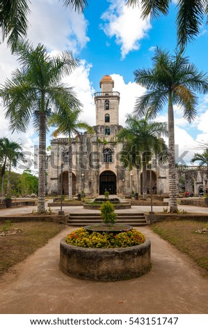 The Santa Monica Parish Church of Alburquerque, commonly known as the Alburquerque Church, is a Roman Catholic church in the municipality of Alburquerque, Bohol, Philippines.