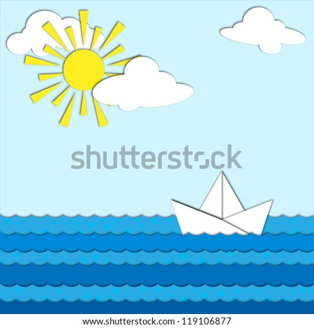 The sea and the ship made �¢??�¢??of paper.