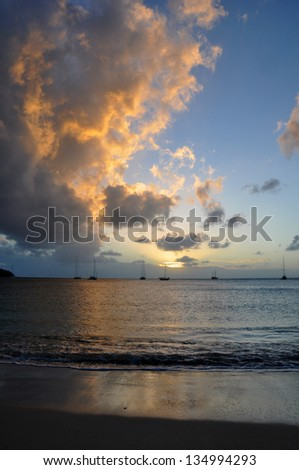 The sheltered harbour of Rodney Bay on St Lucia