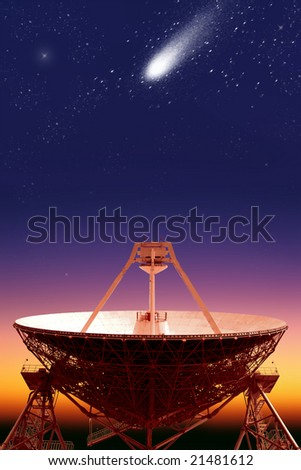 "The sketch ""Space"".Radio telescope ""Quasar"" 2"