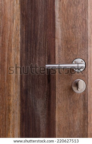 The space on the door with latch.