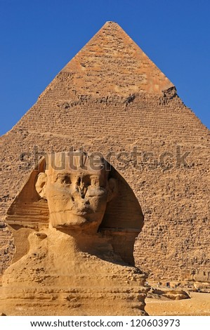 The Sphinx and Pyramids, Egypt