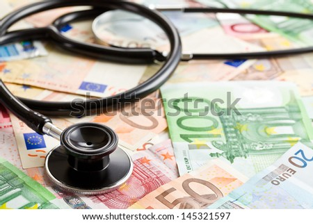 the stethoscope and the euro banknotes