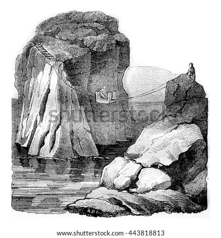 The Stone General, vintage engraved illustration. Magasin Pittoresque 1836.