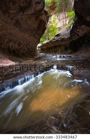 The Subway Slot Canyon in Zion National Park