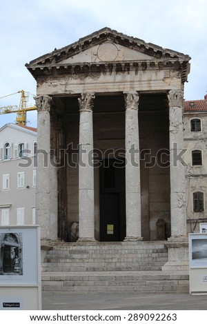 The Temple of Augustus in Pula in Croatia