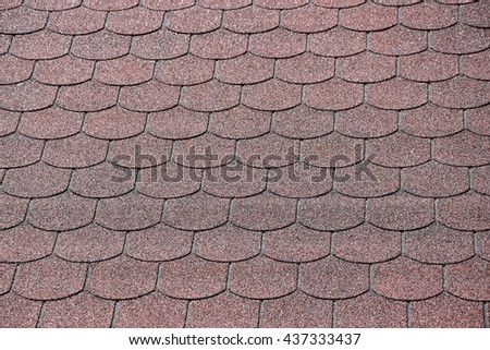 The texture of the background, asphalt shingle roof