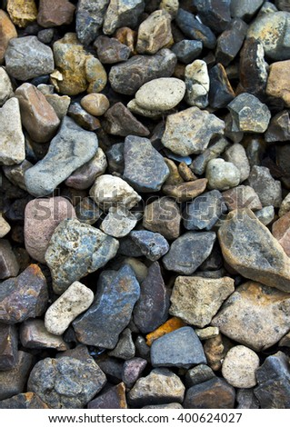The texture of the stone, pebbles