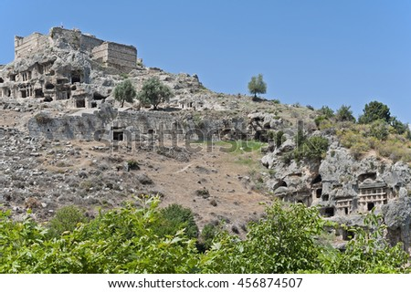 The Tlos stone tombs settlement in Turkey 3