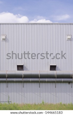The vents in the wall of the building industry.