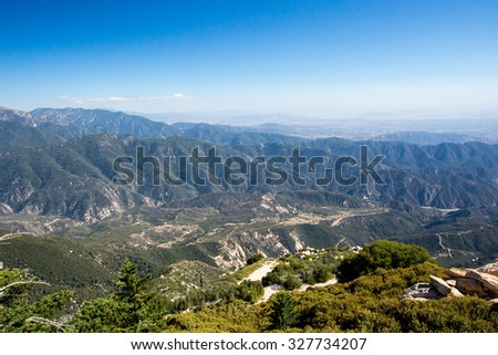 Beautiful snowcapped mountains off ski apache stock photo for Snow cabins near los angeles