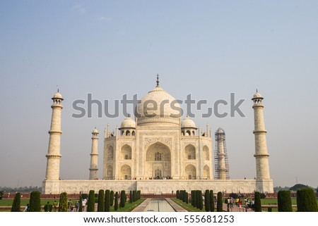 The view in Taj Mahal. Agra, India