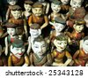 The water puppets of the theater in Hanoi in Vietnam - stock photo