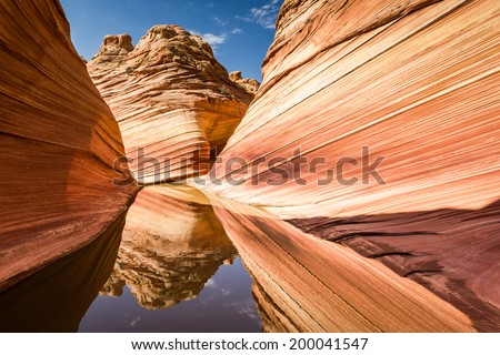 The Wave, Arizona - Coyote Buttes North, amazing canyon rock formation near Page