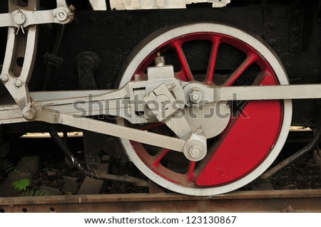 The wheels of the train
