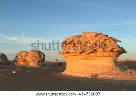 The White Desert at Farafra in the Sahara of Egypt
