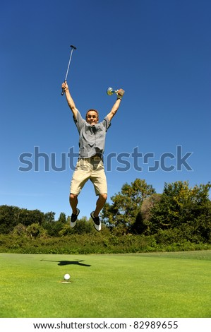 the winner of a golf tournament