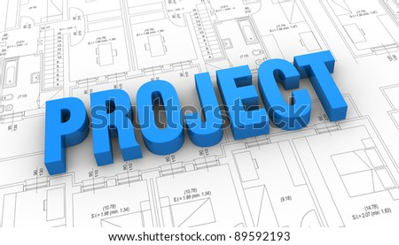 Project Plan Diagram Icons 3d Render Stock Illustration 129629441 ...