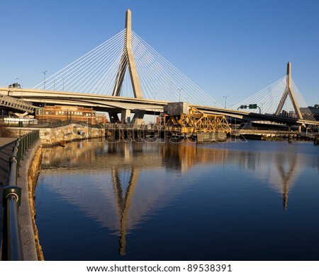 The Zakim Bridge in Boston, Massachusetts - USA.