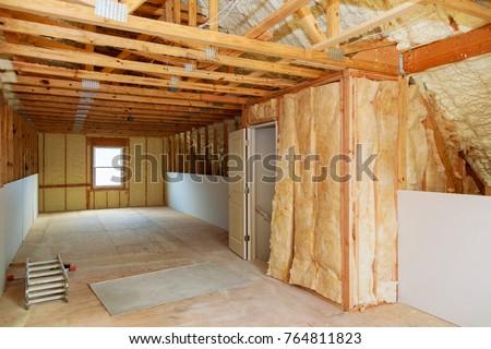 Wooden house interior stock photo 44215249 shutterstock - Florida building code interior walls ...