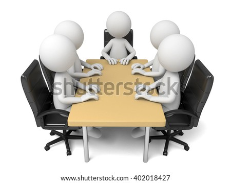 These 3d people are at a meeting
