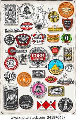 Thirty Three Vintage Logos Set.