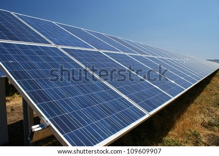 This is a photovoltaic farm in Sliven, Bulgaria.