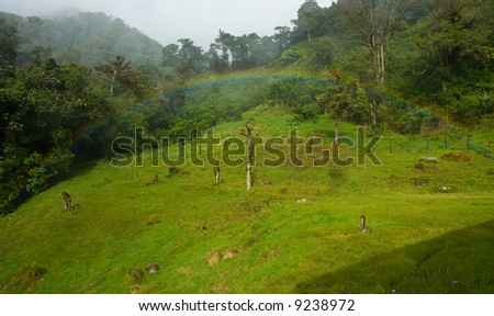 this is a rainbow in the rain forest of Panama