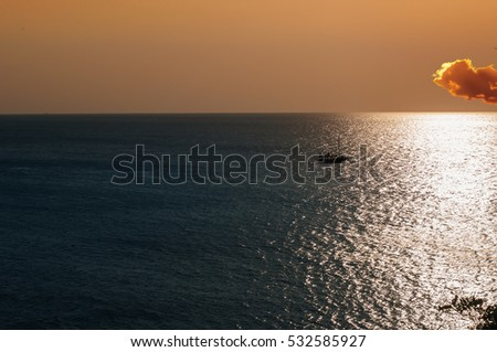 This is a view of sunset