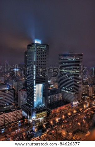 This is a view of Warsaw, the capital city of Poland.