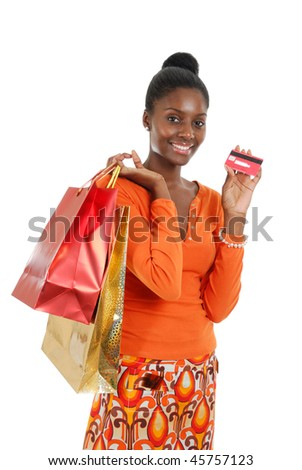This is an image of a woman holding a shopping bag.